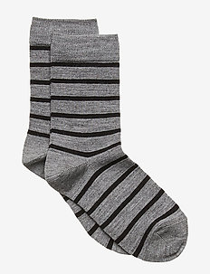 Socks Wool Jaquard School - GREYMELANGE