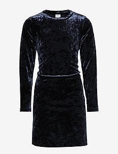 Dress velour l/s School - kjoler - dark sapphire