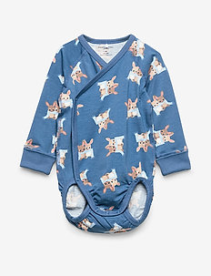 Body Wrapover AOP Baby - DARK BLUE