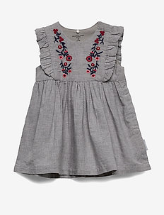 Dress S/S solid Baby - kjoler - greymelange