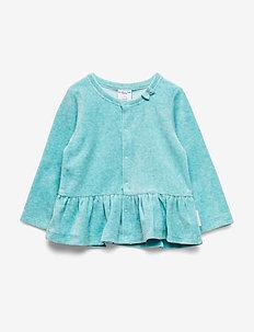 Cardigan velour Baby - MARINE BLUE