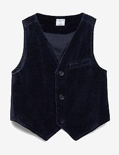Waistcoat Solid Preschool - DARK SAPPHIRE
