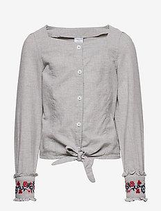 Top l/s Woven School - chemisiers & tuniques - greymelange