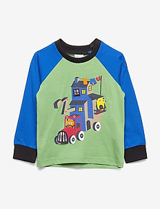 T-shirt L/S applique  Preschool - lange mouwen - mineral green