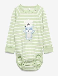 Body PO.P Stripe Baby - long-sleeved - smoke green