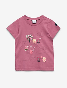 T-shirt Frontprint s/s Preschool - HEATHER ROSE