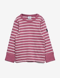 T-shirt L/S Stripe Preschool - long-sleeved t-shirts - heather rose