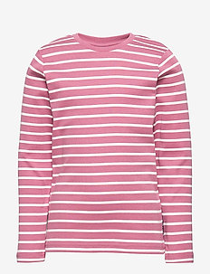 T-shirt L/S Stripe School - pitkähihaiset paidat - heather rose