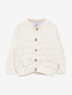 Top L/S Knitted Baby - kardigany - snow white
