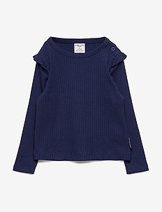 Top L/S solid Preschool - lange mouwen - medieval blue
