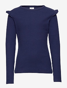 Top L/S solid School - MEDIEVAL BLUE