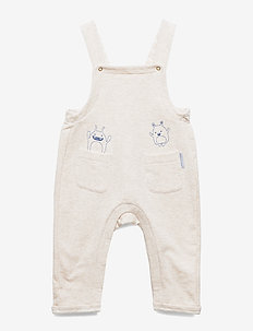Jumpsuit Solid Baby - ogrodniczki - ecru melange