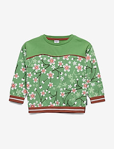 Sweater L/S AOP Pre-school - long-sleeved t-shirts - mineral green