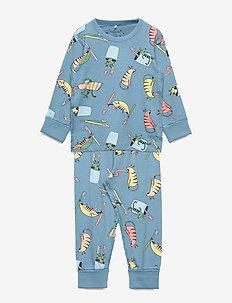 Pyjamas AOP Preschool - sett - blue heaven