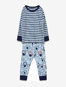 Pyjamas AOP/Striped Preschool - DREAM BLUE