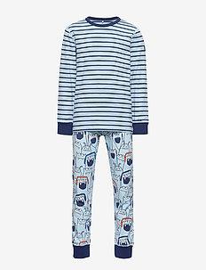 Pyjamas AOP/Striped School - sett - dream blue