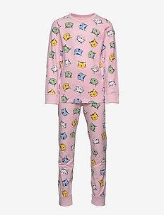Pyjamas AOP School - sett - rose shadow