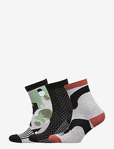 Socks 3-P Jaquard School - BLACK