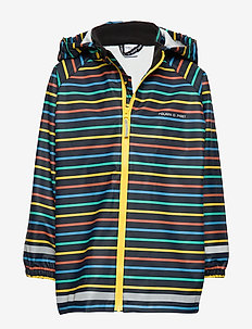 Rain Jacket Stripe Preschool - kurtki - maize