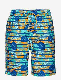 Swimwear Pants Stripe School - spodenki - bonnie blue