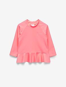 Swimwear Top l/s UPF Baby - koszulki - geranium pink