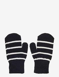 Mitten Wool PO.P Stripe Preschool - handschuhe - dark sapphire