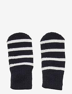 Mitten Wool PO.P Stripe Baby - rękawiczki - dark sapphire