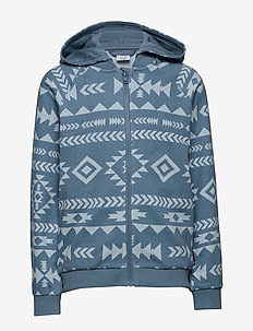 Zip Up l/s AOP hood School - bluzy z kapturem - blue heaven
