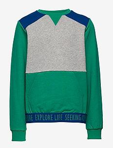 Sweater with pocket School - DEEP GREEN