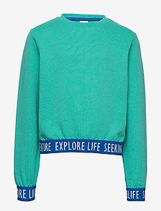 Sweater Solid School - sweatshirts - waterfall