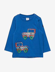 T-shirt l/s front print Preschool - PRINCESS BLUE