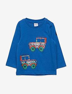 T-shirt l/s front print Preschool - lange mouwen - princess blue