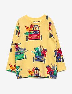 T-shirt l/s AOP Preschool - LEMON DROP