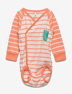 Body Wrapover Striped Baby - CANTALOUPE