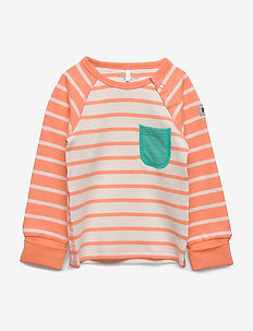 Top L/S Striped Baby - CANTALOUPE