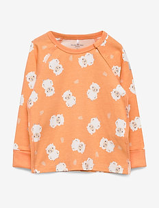Top L/S AOP Baby - CANTALOUPE