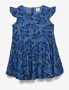 Dress Woven AOP Preschool - MOONLIGHT BLUE