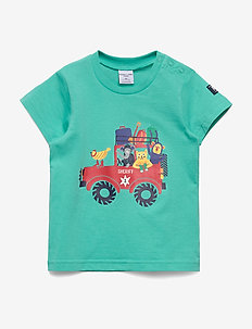 T-shirt front print Pre-School - BEETROOT PURPLE