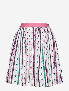 Skirt woven AOP School - SNOW WHITE