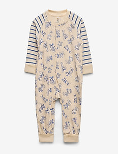 Disney Collection Overall Striped Baby - met lange mouwen - tapioca