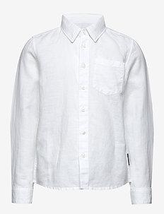 Shirt l/s  School - SNOW WHITE