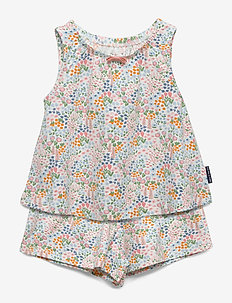 Pyjamas S/S AOP Preschool - sets - snow white