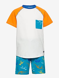 Pyjamas S/S AOP Preschool - sets - bluebird