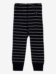 Long Johns Wool Striped Baby - basislag - dark sapphire