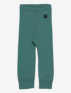 Long Johns Wool Solid Baby - basislag - oil blue