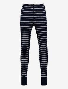 Long Johns Striped Adult - leggings - dark sapphire