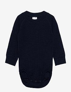 Body Wool Solid Baby - langermet - dark sapphire