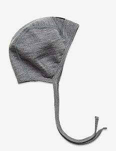 Helemt Wool Solid Baby - hoed - greymelange