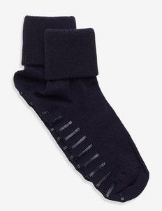 Sock Wool Preschool - sokker med anti-skli - dark sapphire