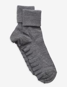 Sock Wool Preschool - sokker med anti-skli - greymelange